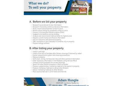 3 Page design for Real estate business