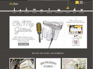 E-commerce (Online Store) - thedrybar.com