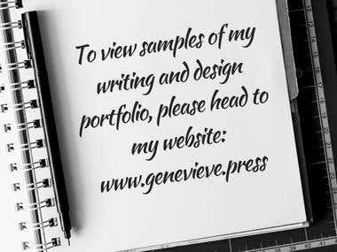 My personal writing and design portfolio website