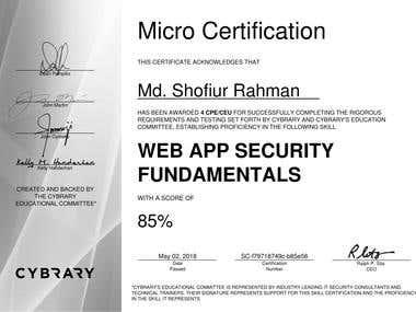 Web App Security Fundamentals Certification
