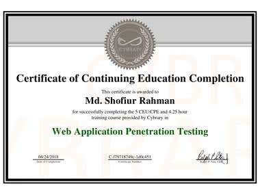 Web Application Penetration Testing Certification