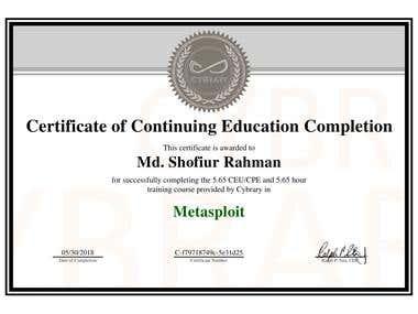Metasploit Certification