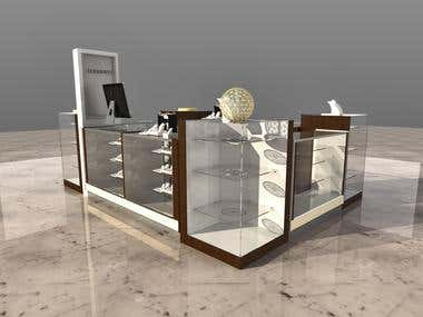 Jewellery Kiosk 3D Design