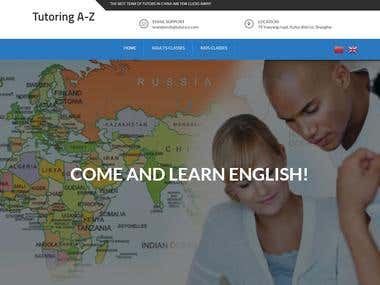 English Tutor Website