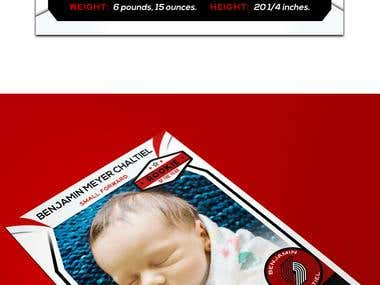 BABY ARTWORK BASKETBALL CARD STYLE