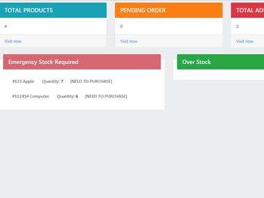 Inventory stock management sustem