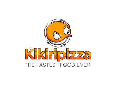 Kikiripizza Fast Food Restaurant Mascot and Logo