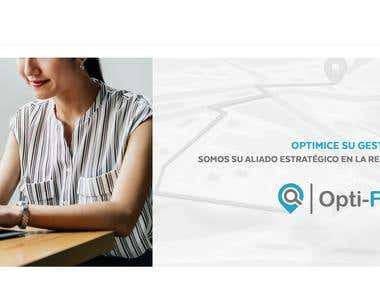 opti fleet ilustration web design