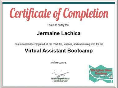 VA boot camp Graduate