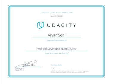 Android Developer Nanodegree by Udacity