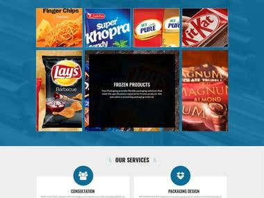Snacks/Chips Company Website
