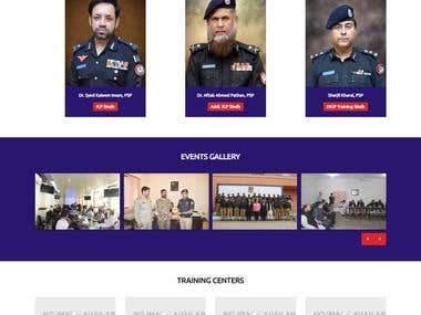 Training Branch Sindh Police Website