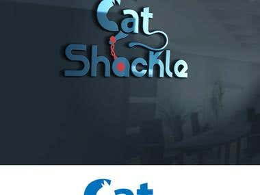 Logo for a cat harness called the cat shackle