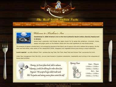Krishna's Inn (Restaurant Website)