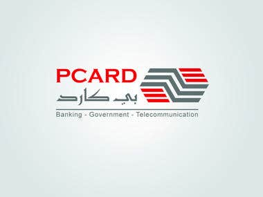 PCARD Logo for Bank Chip Manufacturer Company