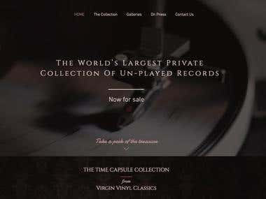 Classic Music Website Design