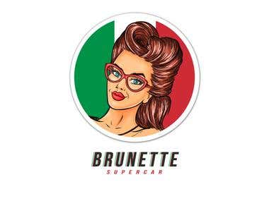 Brunette supercar