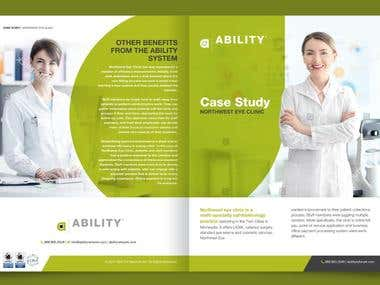 Brochure design for healthcare tech company