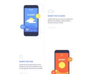 Wether App Landing Page