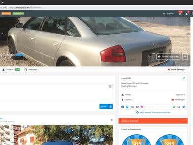 Social network for MAYA Group