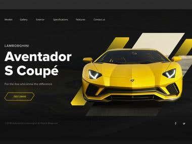 Promo web page