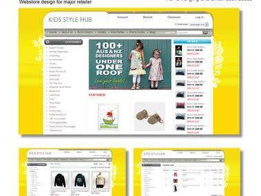 Webstore design for major retailer