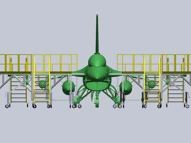 F-18 Fighter maintenance stand design