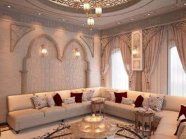 Moorish Design for a living area