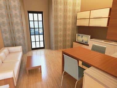 Apartment design 3D Max