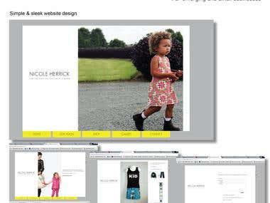 Simple and sleek website design