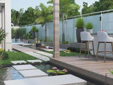 Landscape Design for villa located in new cairo
