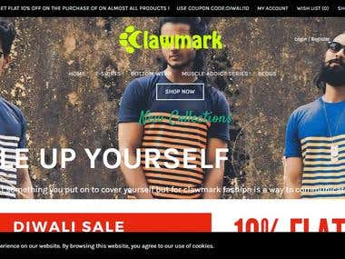 Website for Clawmark.in
