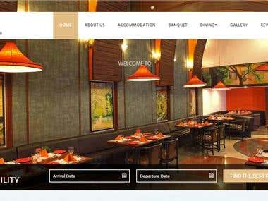 Website for Hotel Aurora Towers with booking system on php