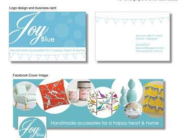 Logo design with business card and timeline cover image
