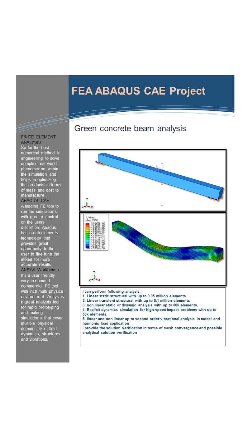 FEA ABAQUS CAE Project | Freelancer