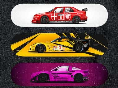 Graphics for Skateboard Car/background