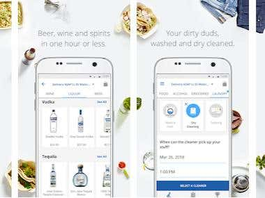 Android, iOS - Food delivery App