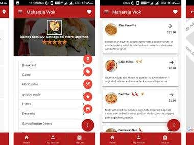 Android - Food Ordering App