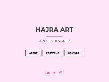 Build and design a portfolio website for my art