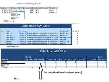 Excel - Inventory tracking