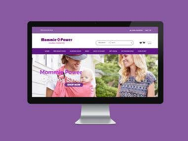 Mommie Power website - Development