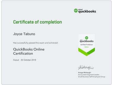 QuickBooks Online Certification and CPE credits