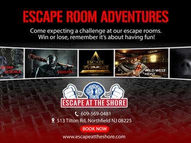 Professional Looking Advertisement for Escape Room Business