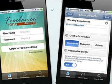 Freelancer Mobile site