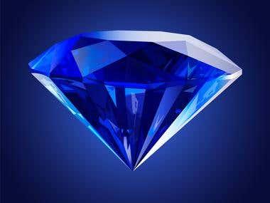 Blue crystal diamond