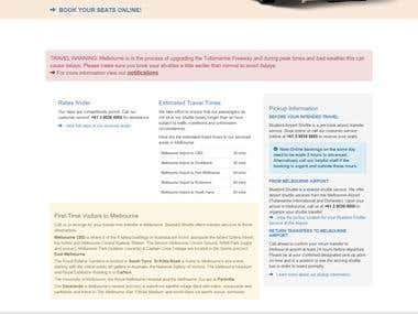 Laravel Booking site