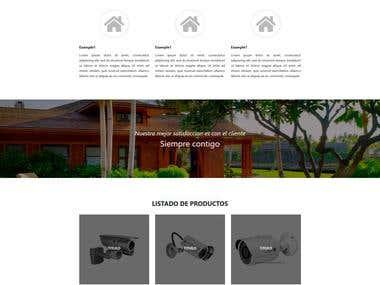 Diseño de página web corporativa de 5 secciones