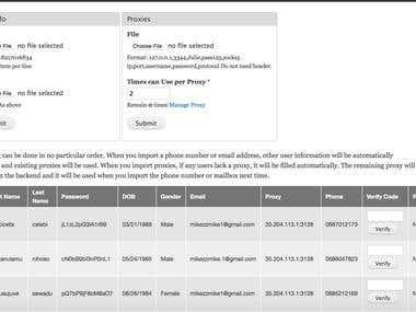 Website Registry Automation Task