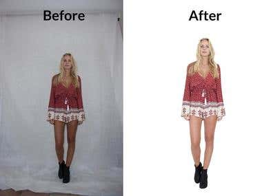 Photo editing ( Background remove)
