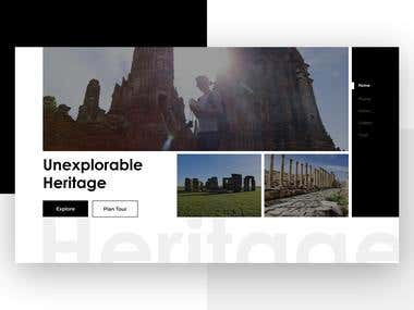 Heritage website home page design